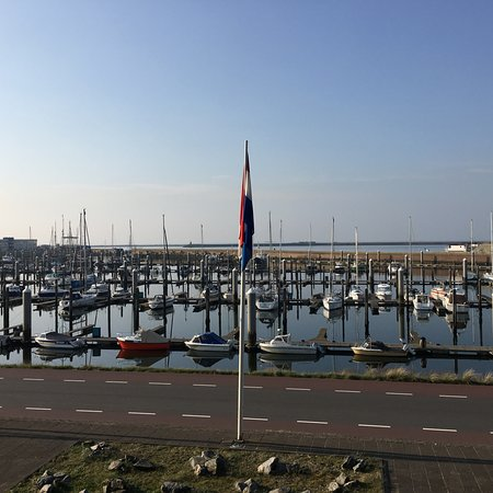IJmuiden, Nederland: View from the balcony
