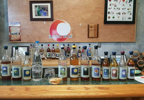 Severance, CO: Tasting area in the Meadery & a few Meads on ice