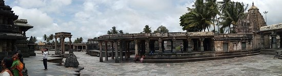 Chennakesava Temple: Panorama shot of the structures adjacent to the main temple