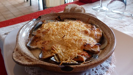 Limoux, Francia: Moules gratinées