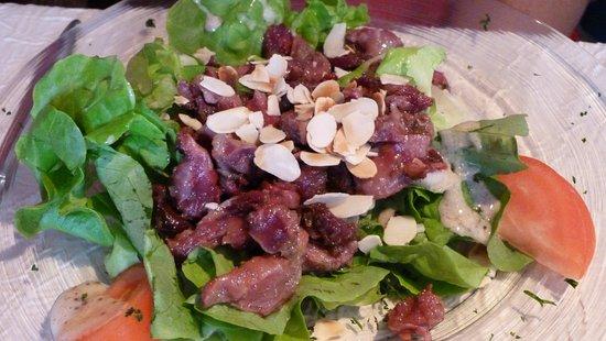Limoux, Francia: Salade de gésiers