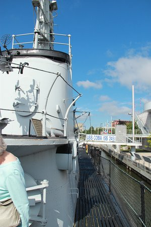 Manitowoc, WI: View from the deck of the USS Cobia submarine