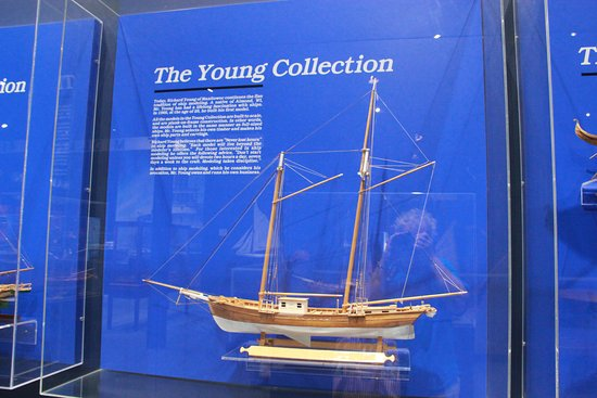 Manitowoc, WI : One of the ship models on display in the museum
