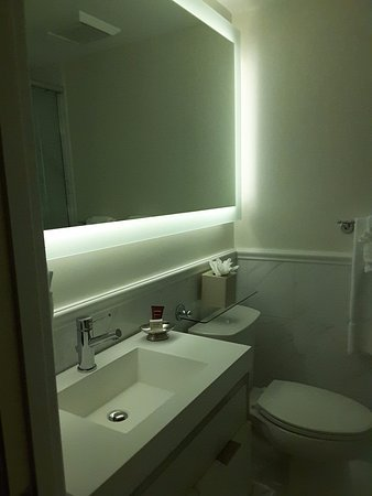 The Inn at Union Square: One side of bathroom with basin & toilet