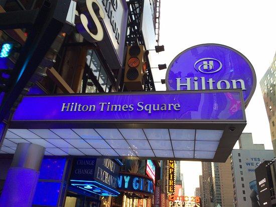 Hilton Times Square: 42nd Street entrance