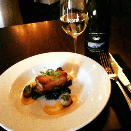 Scotia Restaurant & Whisky Bar: Pork. Scallpos. Chardonnay. Yes Please