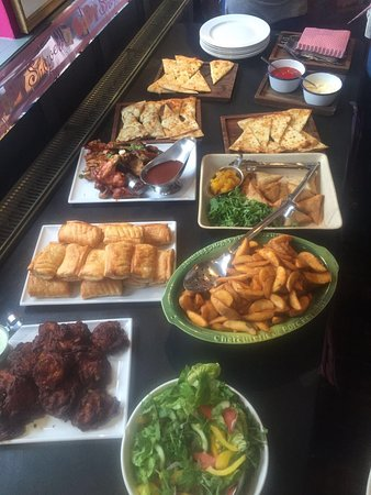 Worcestershire, UK: Buffet selection