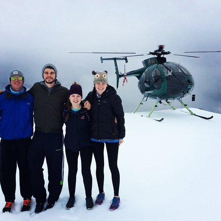 Mountain Helicopters: Our snow landing
