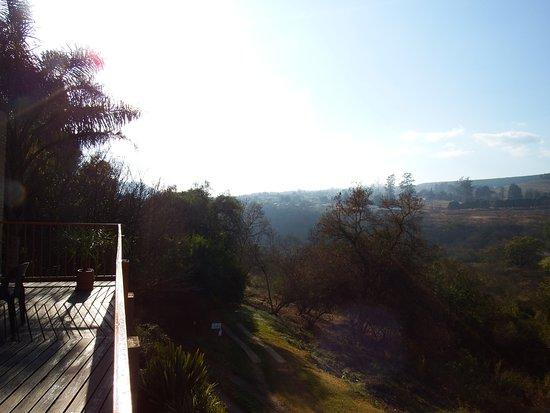 Sabie, África do Sul: uitzicht vanaf het balkon