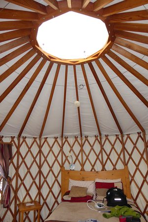 Joyful Journey Hot Springs Spa: Inside Yurt #2