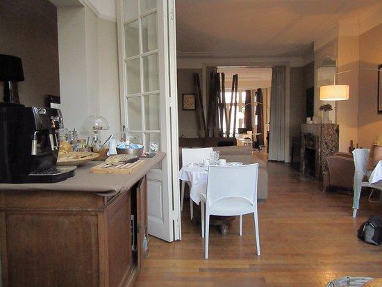 La Villa 30: vue de la pièce petit déjeuner