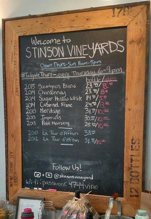 Crozet, Wirginia: Stinson Vineyards