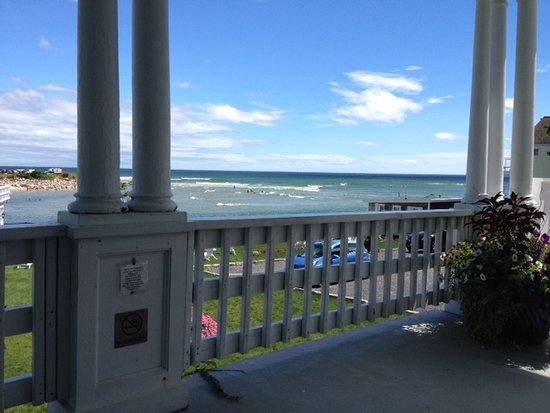 Marginal Way House: main house porch and more here: