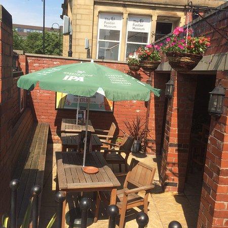 Bury, UK: relax in our beer garden
