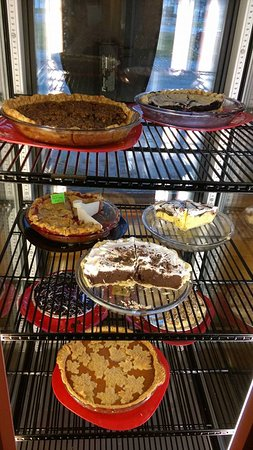 Port Wing, WI: Pie case to really appreciate!
