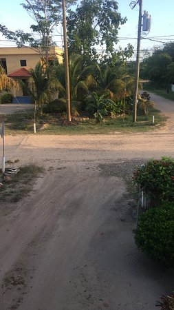 Caribbean Shores Bed & Breakfast: View of Road from second floor