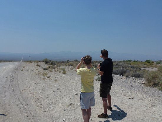 Extraterrestrial Highway: The start of Groom Lake rd