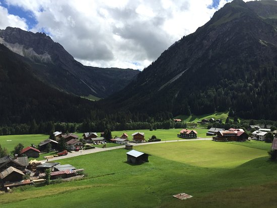 Der Kleinwalsertaler Rosenhof: Blick von Zimmer 42