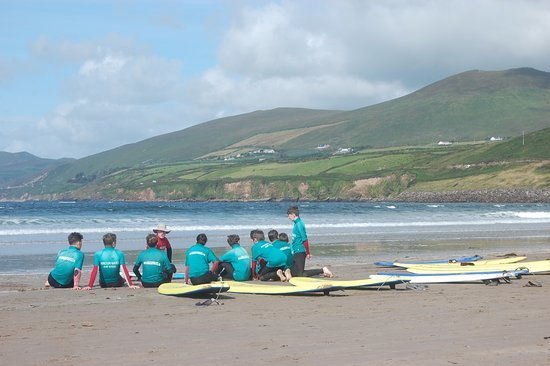 Inch, Ireland: safety talk before the surf