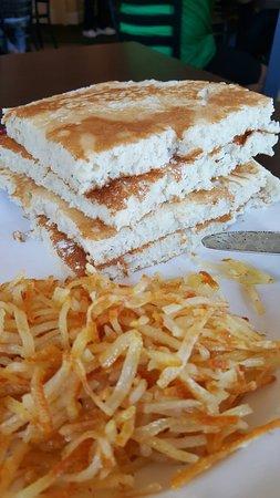 Marion, IL: 10 inch pancake with hashbrown....goooood!