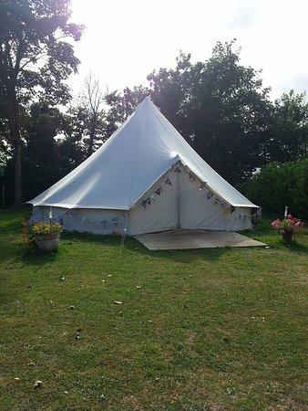 Aylesford, UK: Festival tent
