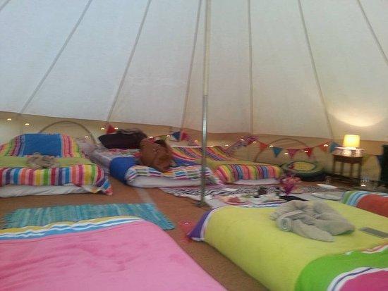 Aylesford, UK: Inside Festival tent