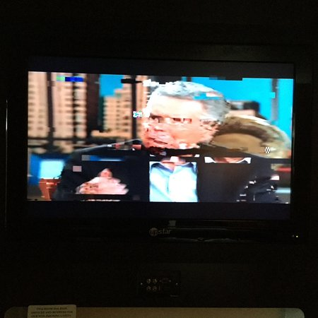 """Mount Pleasant, TX: This was television the entire evening. Clerk said cable connection & claimed to have """"fixed it"""""""