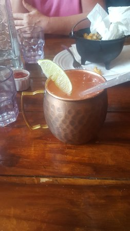 Marble, CO: My Moscow Mule was expertly prepared by our server Brian.