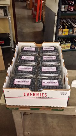 Manson, WA: The box we bought says CHERRIES but these are definitely BLUEBERRIES in the containers, although