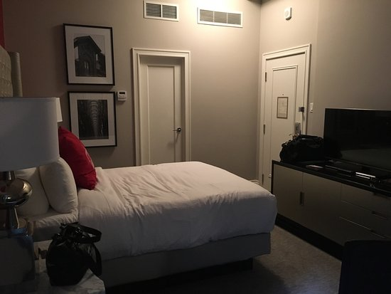 Small room but clean and all we needed.. Nice pillows and ...