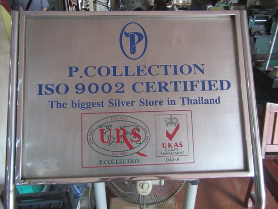 San Kamphaeng, Thailand: Sign in the store