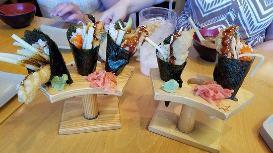 Ichiban Sushi: shrimo tempura cones