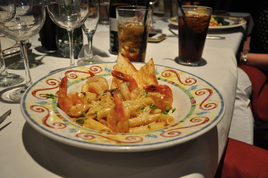 Flower Mound, Teksas: Shrimp fettuccini
