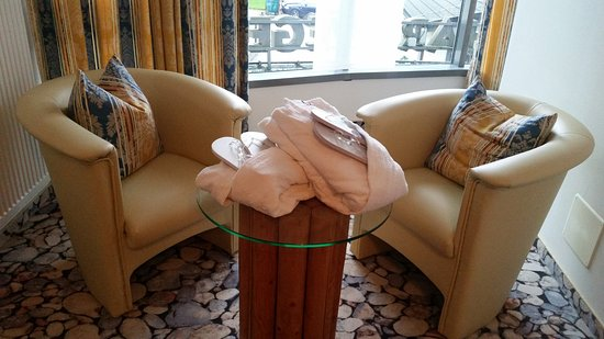 Complimentary robes and slippers