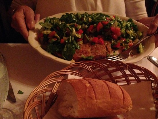 Franklin Square, NY: Veal Caprese & warm bread