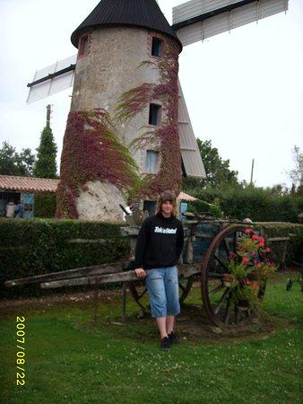 Chateauneuf, Frankrike: le moulin pret à tourner