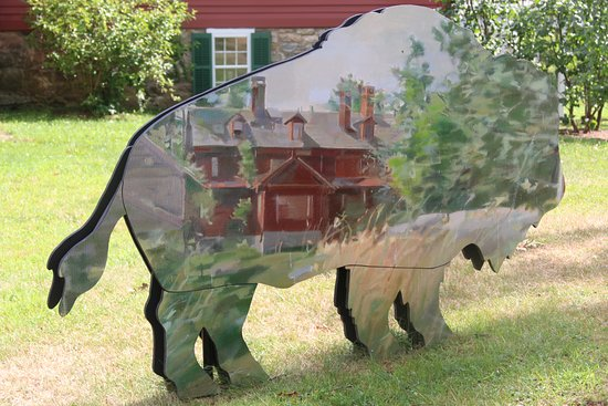 Wilton, CT: Painted Bison