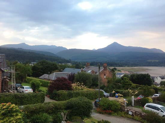 The Glenartney: View from our room of the bay and Goat Fell
