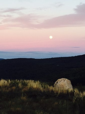 Eaton, NH: Foss Mountain Moon Rise