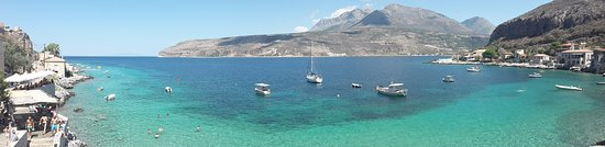 Limeni, Greece: panoramic view from terrace