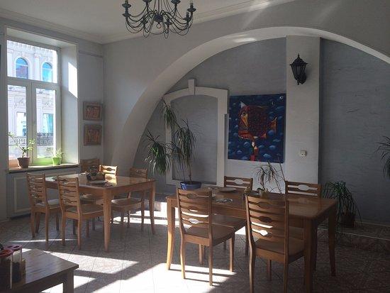 Randhouse Morskaya: Холл. Место завтрака