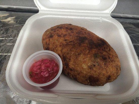 Esperanza, Puerto Rico: potato filled with ground beef,chicken,pork