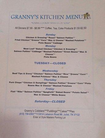Mount Juliet, TN: Granny's Kitchen