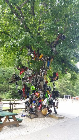 Robbinsville, NC: The totem with motorcycle parts