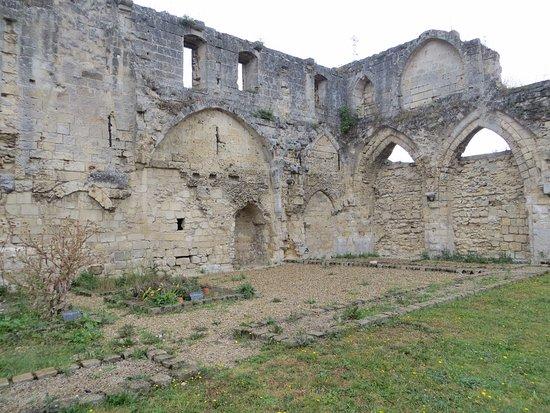 Soissons, Francia: de ruines met de keukenmuur