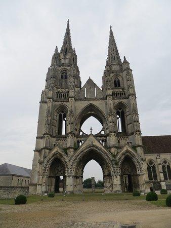 Soissons, Francia: de overgebleven gevel