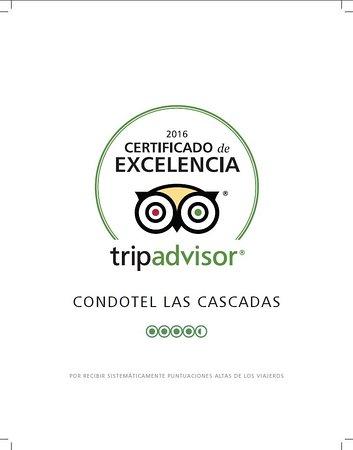 Condotel Las Cascadas: Certificate 2016