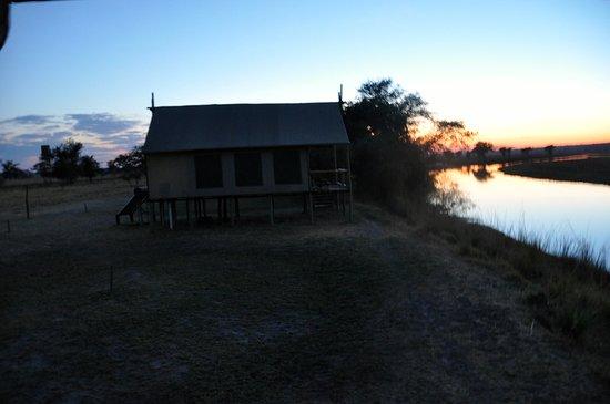 Katima Mulilo, Namíbia: tent on stilts