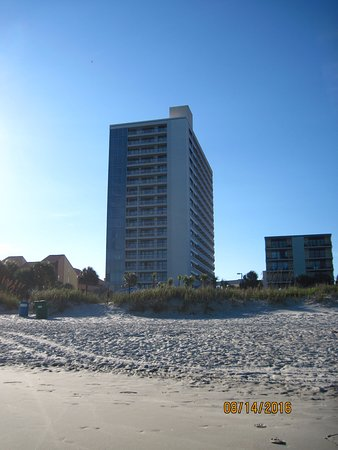 Forest Dunes Resort: That is how close the resort is to the beach!