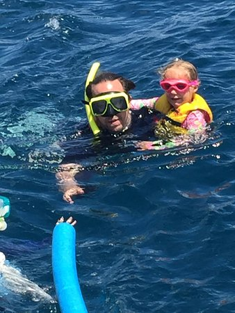 Sadie Sea Charters: Snorkeling fun with a little one.